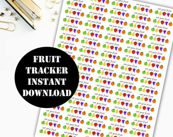 Fruit Printable Planner Stickers // Erin Condren Life Planner / Kikki / Plum Paper Planner / Midori Insert / Planner Insert 00007