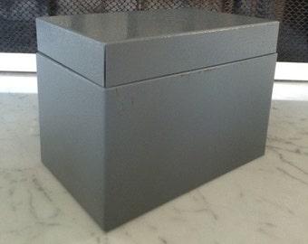 Vintage Metal Box - Index Card Storage Box