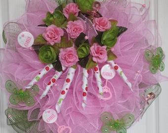 Its A Girl Wreath