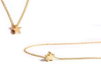 Mini Star Necklace / Minimalistic Jewelry / Small Star / Simple Everyday Jewelry / Layering Necklace / N114