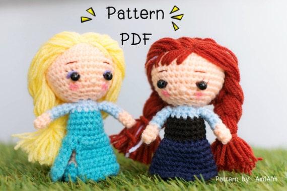 Amigurumi Anna Y Elsa : Amigurumi Pattern : Frozen Elsa & Anna