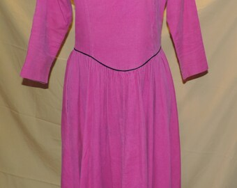 Cambridge Dry Goods Pink corduroy dress size Large