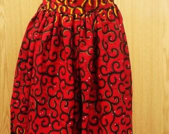 Ankara print maxi skirt, African print skirt,African print high waist skirt