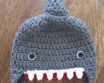 Shark Attack! Crochet hat
