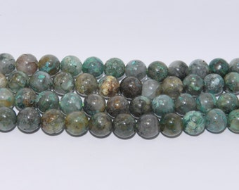 Chrysocolla - Full Strand - 6 mm, Round, Natural - CHS-R-6