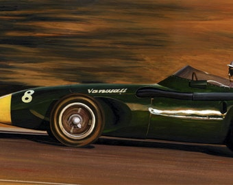 Vanwall Print, Stirling Moss Vanwall, Limited Edition Print