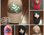 Custom Texas Patch Personalized Love Heart Baseball Hat