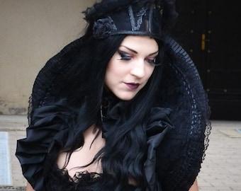 Black Lace Vampire Collar-Gothic Collar-Black Costume Collar-Gothic Accessories-Costume Accessories