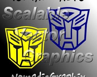 Transformers Autobots - 2 Vector Designs - Cut Files - SVG / DXF / EPS