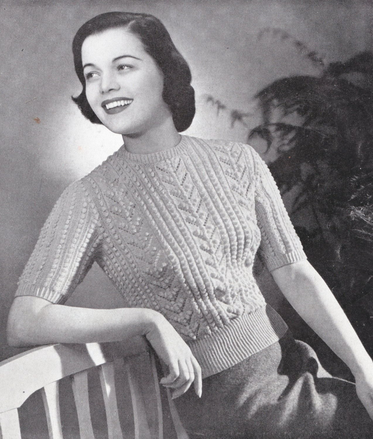 Rare vintage knitting patterns 1940s style bombshell