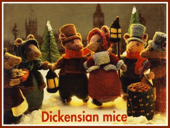 Knitting Patterns For Christmas Mice : Alan Dart DICKENSIAN MICE Womans Weekly Christmas