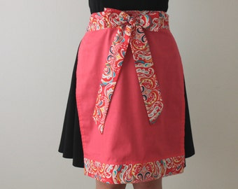 Half Apron, Pink Paisley, Pink, Colorful, Cooking