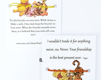 Winnie The Pooh Quote About Friendship New Winnie The Pooh Friendship Wish Bracelet Piglet Cute Gift