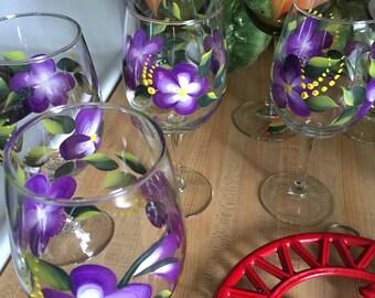 Hand Painted Wine Glasses (CUSTOM)
