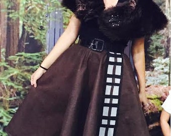 Star Wars Chewbacca inspired Pin-up 1950's Circle Skirt/ Poodle skirt