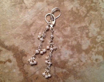 Freshwater pearl and sterling silver earrings