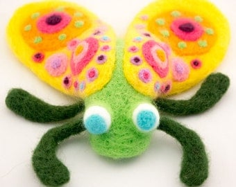 Needle Felted Fly-felted insect