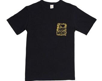LA Clothing I Love Hip Hop Rap Music Pocket Tee T-Shirt