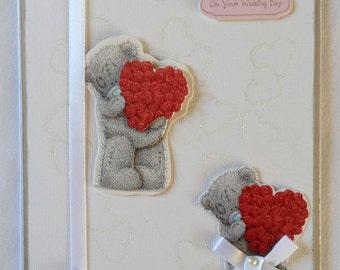 Me to you Handmade wedding Card, Wedding Card, Me to you card, Greeting Card,