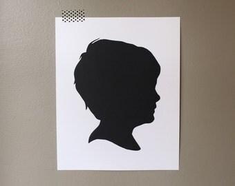 "Silhouette Portrait Custom 8x10"" Cut Paper"