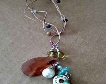 Winding Cords  Unique Necklace