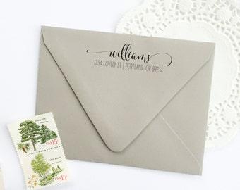 Address Stamp - custom address stamp - return address stamp - calligraphy address stamp - custom stamp - rubber stamp - Z1047