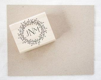 Wedding Favor Stamp - monogram - wedding stamp - custom stamp - custom wedding stamp - favor stamp - monogram stamp - rubber stamp - Z1030
