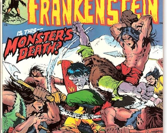 Frankenstein 4, Universal Monsters, Movie comic book, Scary Stories of Horror, Fear, Ploog, Nightmare art. 1973 Marvel Comics in VF+ (8.5)