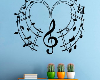 Music Wall Vinyl Decal Music Notes Wall Vinyl Sticker Music Decals Home Decor (7mcns)