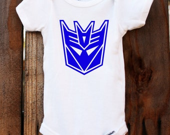 Decepticon Onesie Transformers Baby Customizable Colors Vinyl