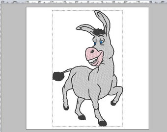 Donkey from Shrek Embroidery Design in PES +3 formats
