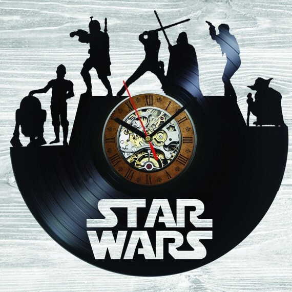 Star Wars Wall Clock Darth Vader Stormtrooper By