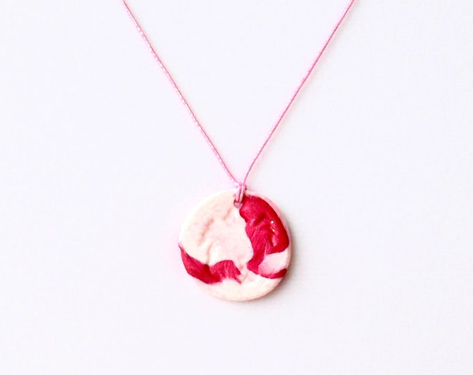 Polymer Clay Nautical Stamped Themed Necklaces- Elasticized Cord, Slip it on and Go!