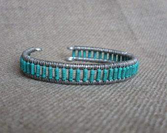 Teal Resistor Cuff Bracelet