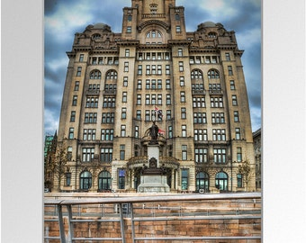 "A3 Mounted Photographic Print: ""Liver Buildings"""