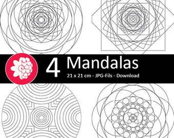 Mandalas to the coloring pages and download, vol. 2