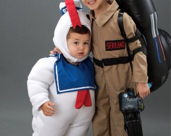 Ghostbuster Stay Puft Costume Marshmallow Man Halloween Custom Made Ghostbusters