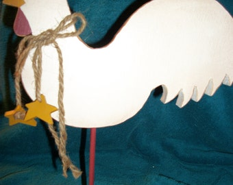 White Rooster with stars