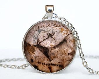 Cave age art necklace Cave age art pendant Cave age art jewelry
