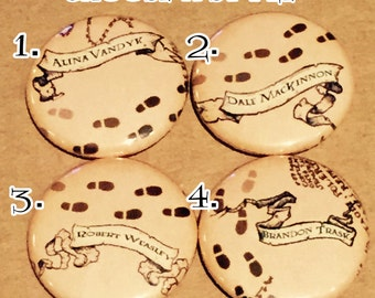 Personalized Marauders Map Button (Harry Potter)