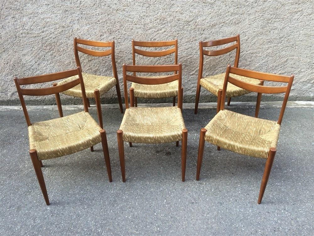 magnifique lot de 6 chaises scandinaves vintage r tro
