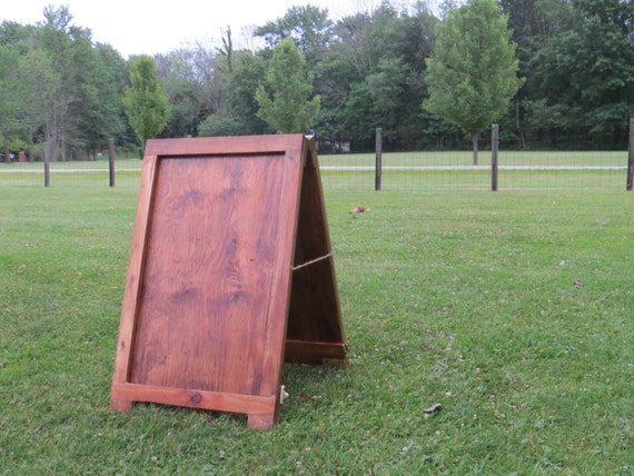 Sandwich board wooden a frame sign holder by