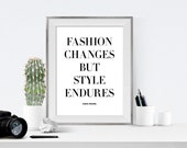 Printable Art, Coco Chanel Quote, Chanel Quotes, Gallery Wall, Typography Quotes, Fashion Quote, Black and white, Apartment Decor Dorm Decor