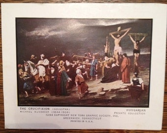 Vintage Pictures of Jesus' Death and Resurrection / New York Graphic Society / Set of 5