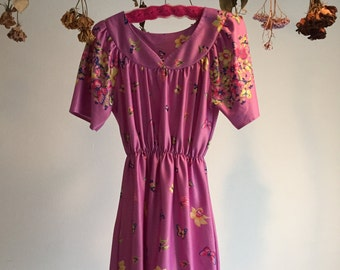 Lavender Floral Mini Dress