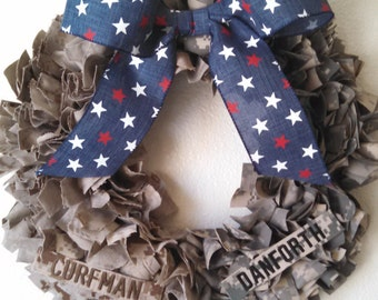 Divided House Military Wreath