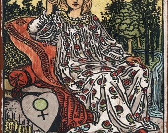 Major Arcana - The Empress Vintage Look Reproduction Metal Sign