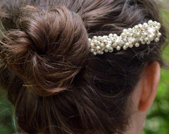 Hairpiece, Beaded Hairstick
