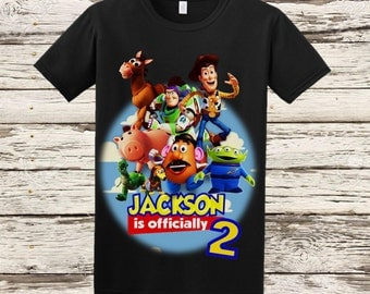Toy Story Birthday Shirt - Black Shirt Available