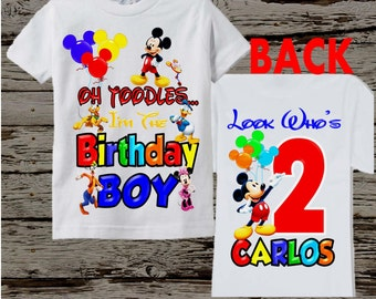 Mickey Mouse Clubhouse Birthday Shirt - Mickey Mouse Birthday Shirt Front and Back